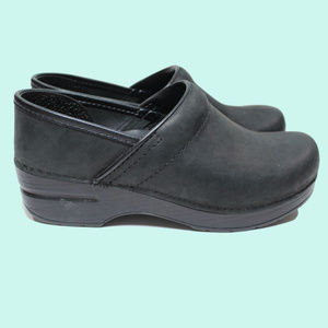 DANSKO Black Nubuck Professional Clogs TRIED ON